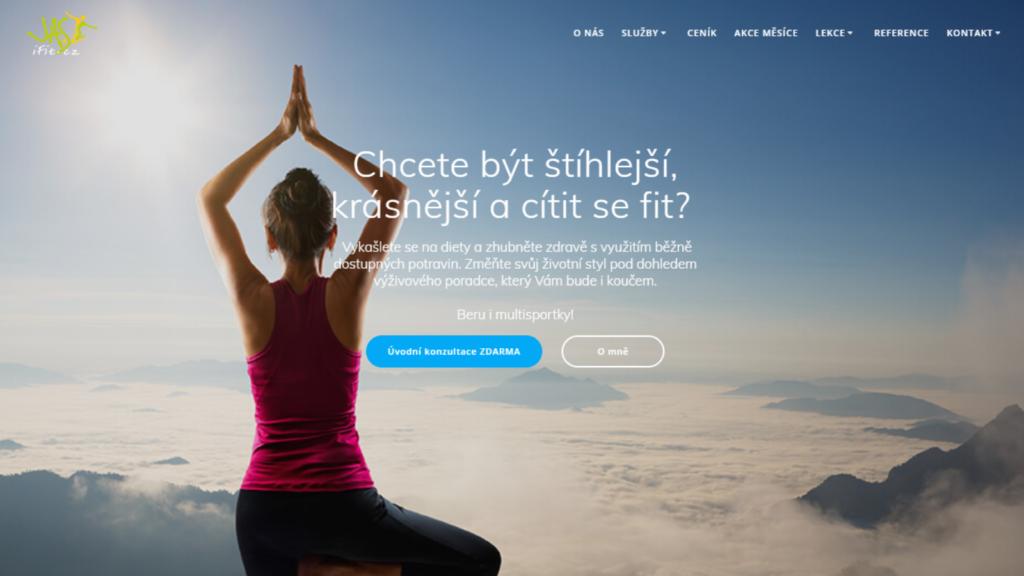 Webová stránka - fitness centrum